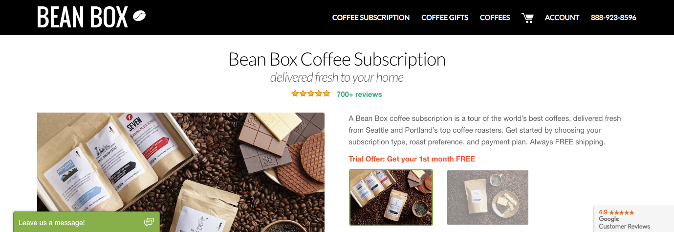 Bean Box screenshot
