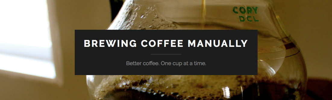 Screenshot of Brewing Coffee Manually website