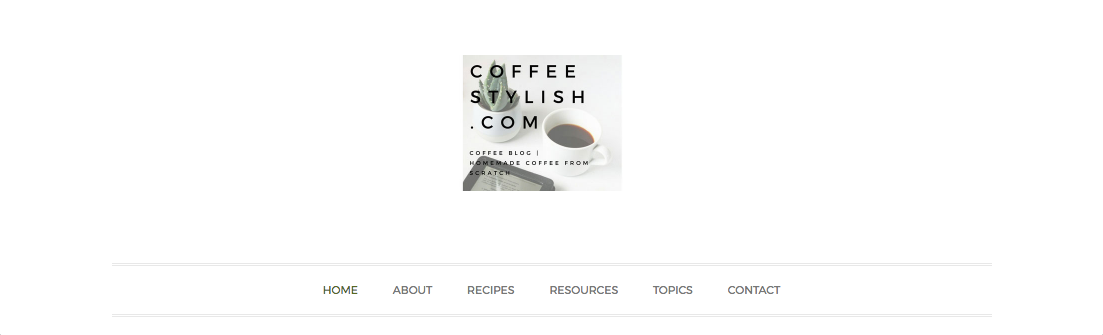 Screenshot of Coffee Stylish website
