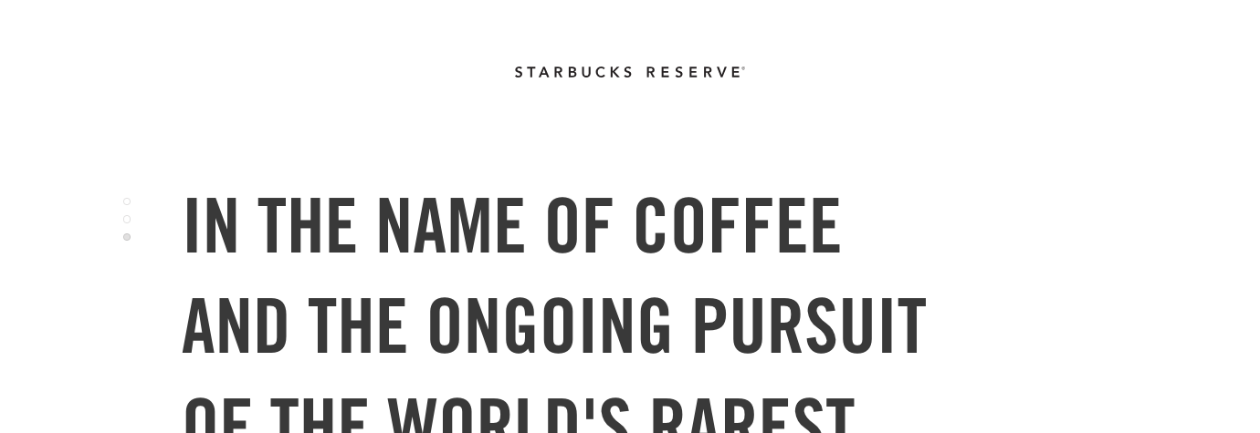 Starbucks Reserve screenshot