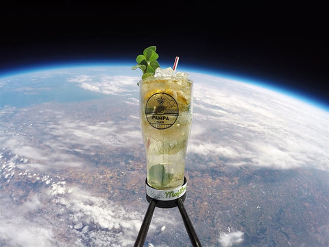 A mojito in space for Pampa Plage French beach bar