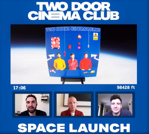 Alex Trimble, Sam Halliday, and Kevin Baird discuss the new Two Door Cinema Club album while it floats above the Earth!