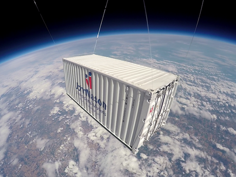 John Mason International shipping container model in space