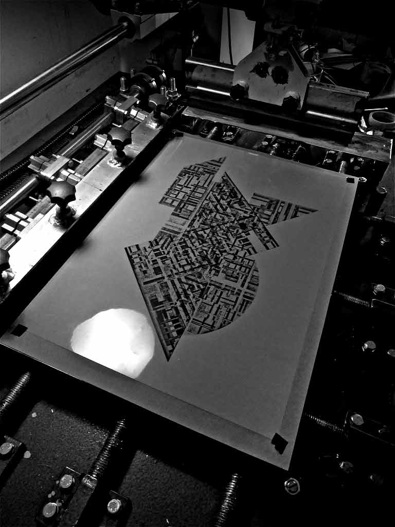 HEXAMINE HEIGHTS SILKSCREEN WALL ART PRINT PRODUCTION