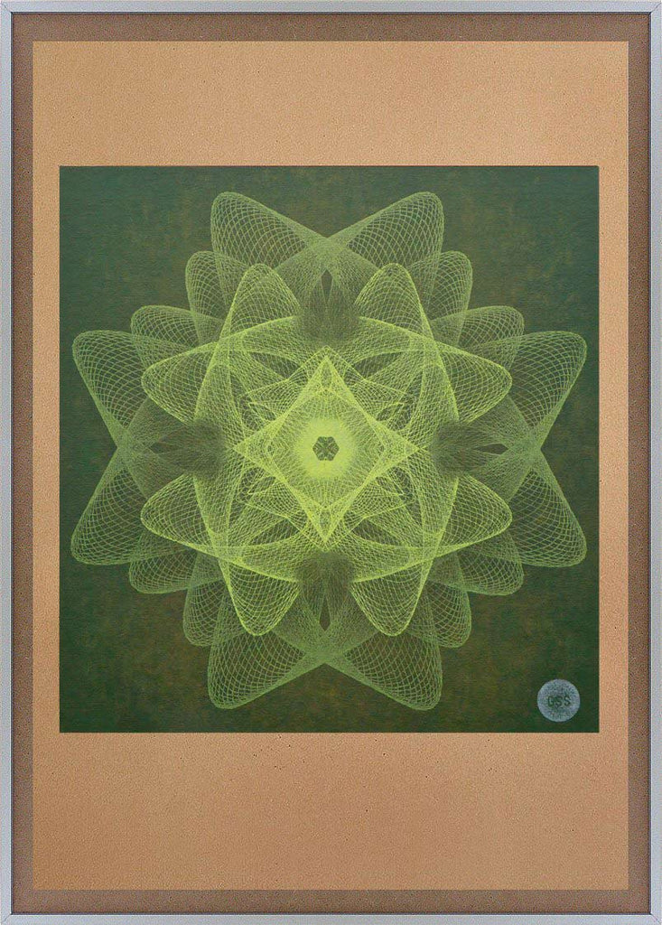 green geometric abstract wall art print