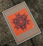 hand crafted abstract geometric wall art screenprints