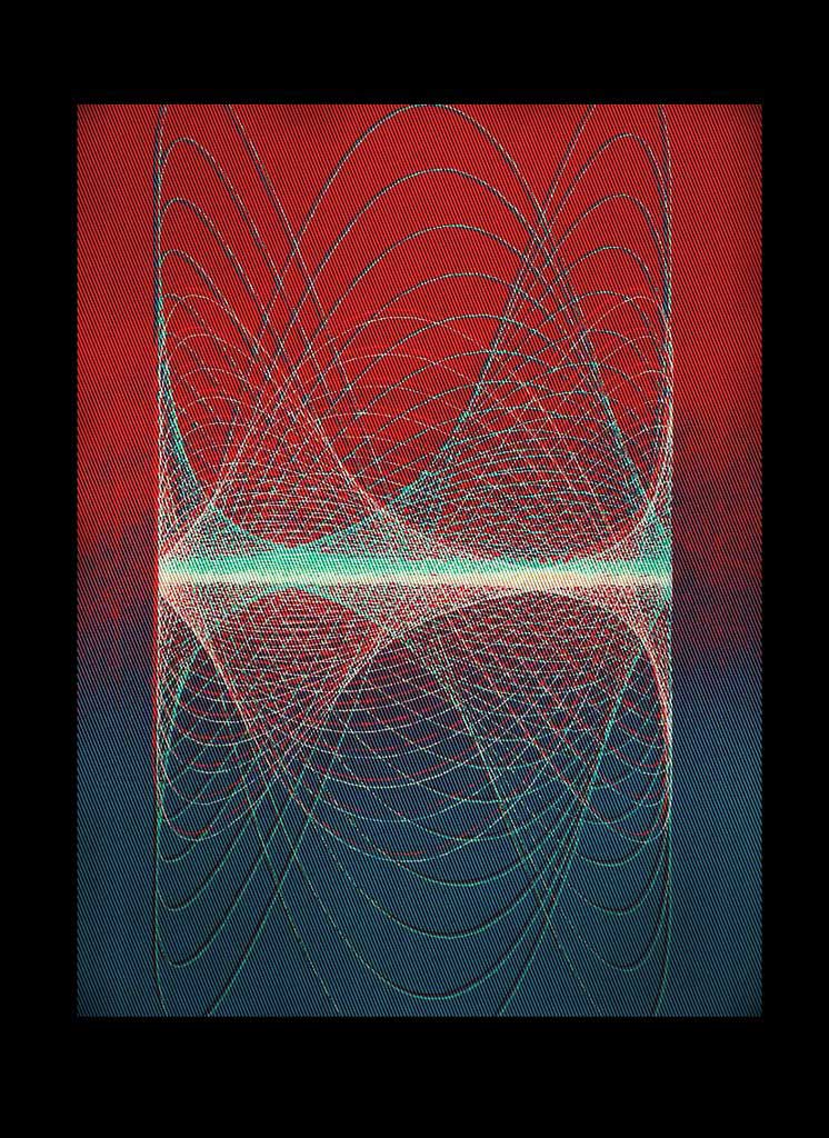 linear abstract sound inspired wall art screen print