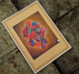 framed abstract wall art screen print