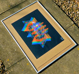 full colour abstract wall art screenprint