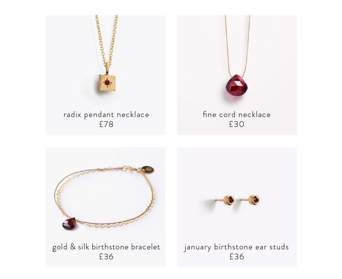Shop the garnet collection