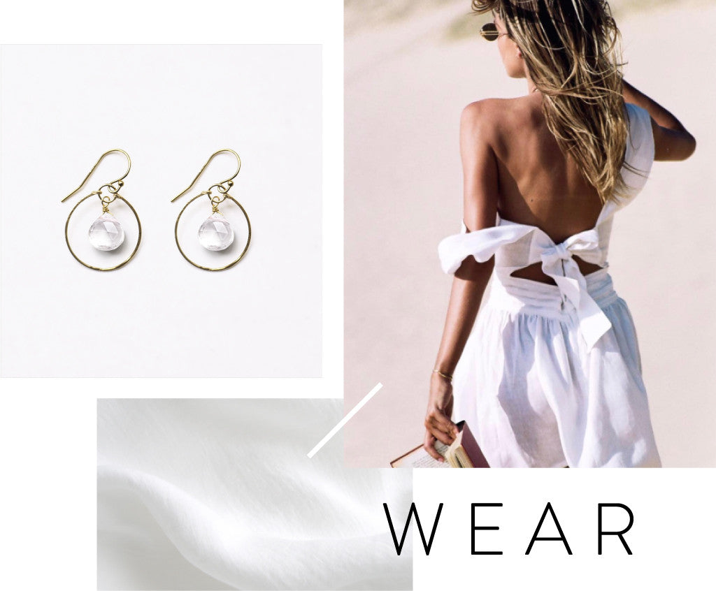 NEW! Wanderlust Life Stella Orb Hoop in Clear Quartz | SIR Patti Mini Dress