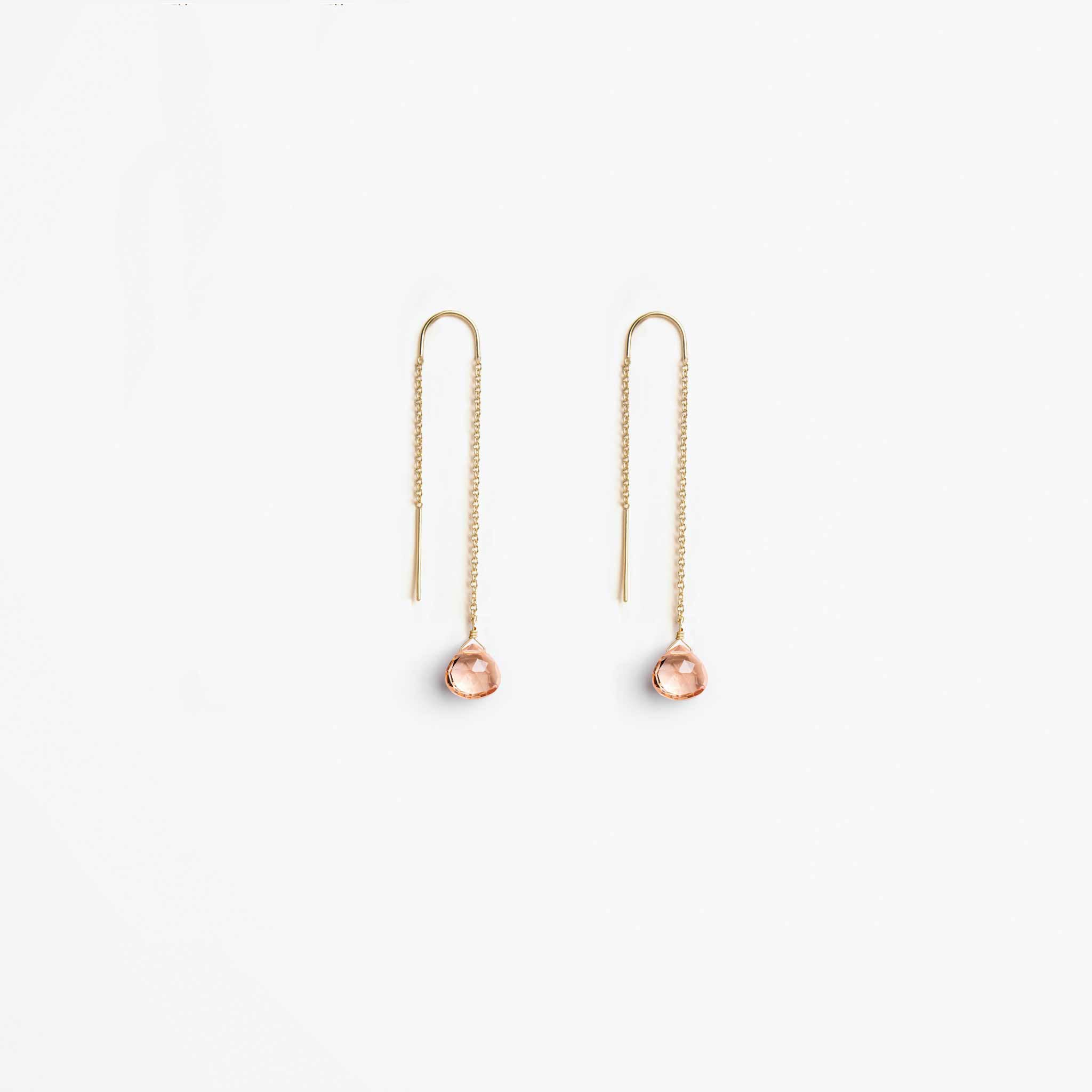 Wanderlust Life Ethically Handmade jewellery made in the UK. Minimalist gold and fine cord jewellery. the wedding collection, waterfall earrings, champagne quartz
