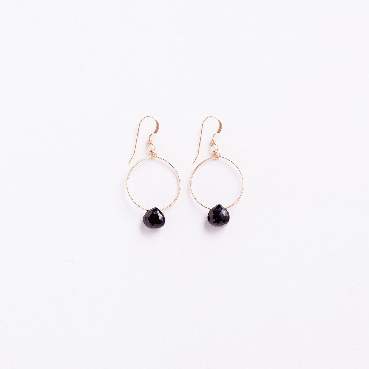 mini tuscany hoop earring | black spinel