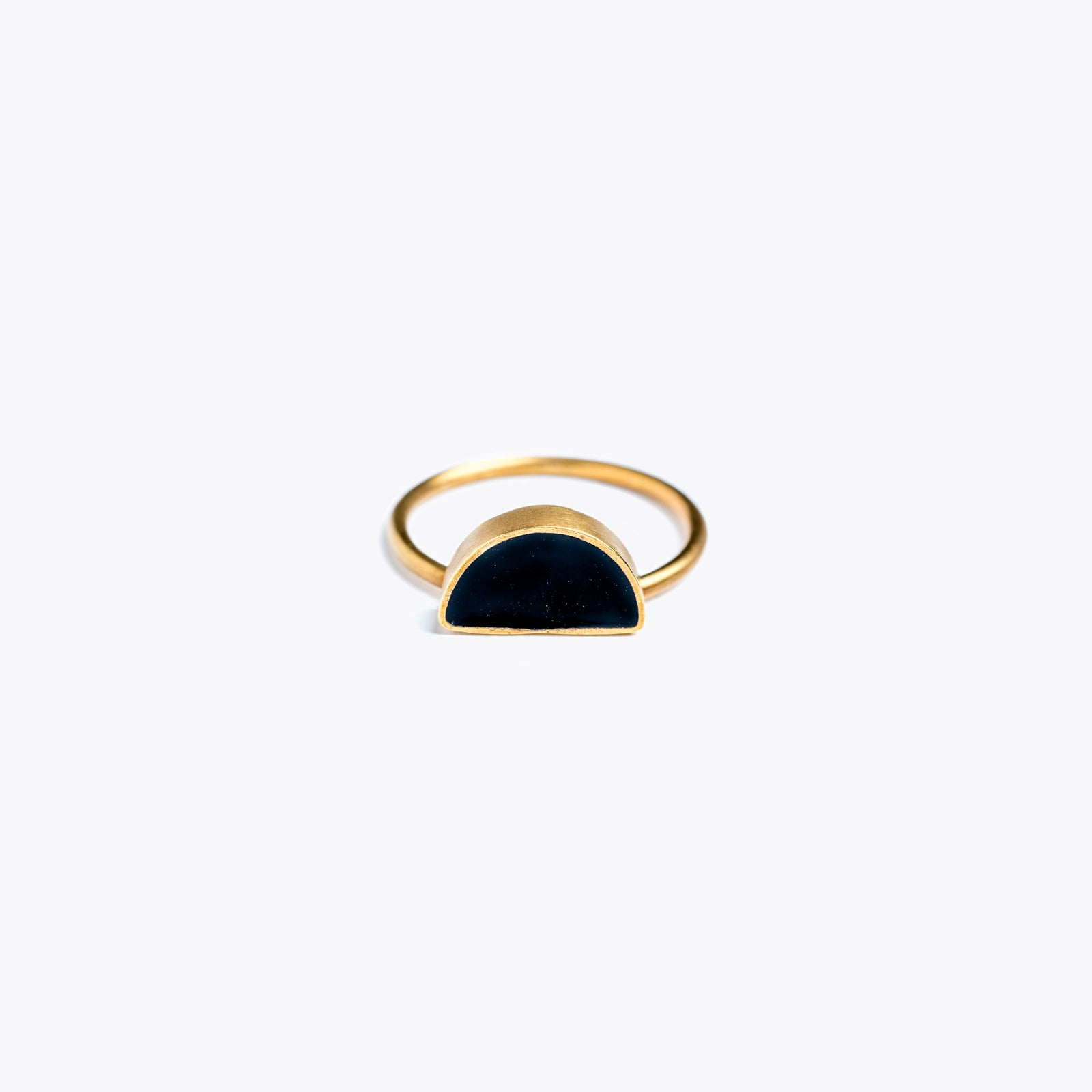 sunburst noir enamel ring | black