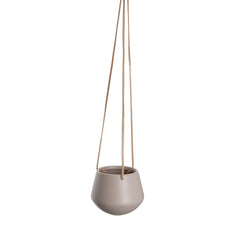 Small hanging pot with leather cord | Pink