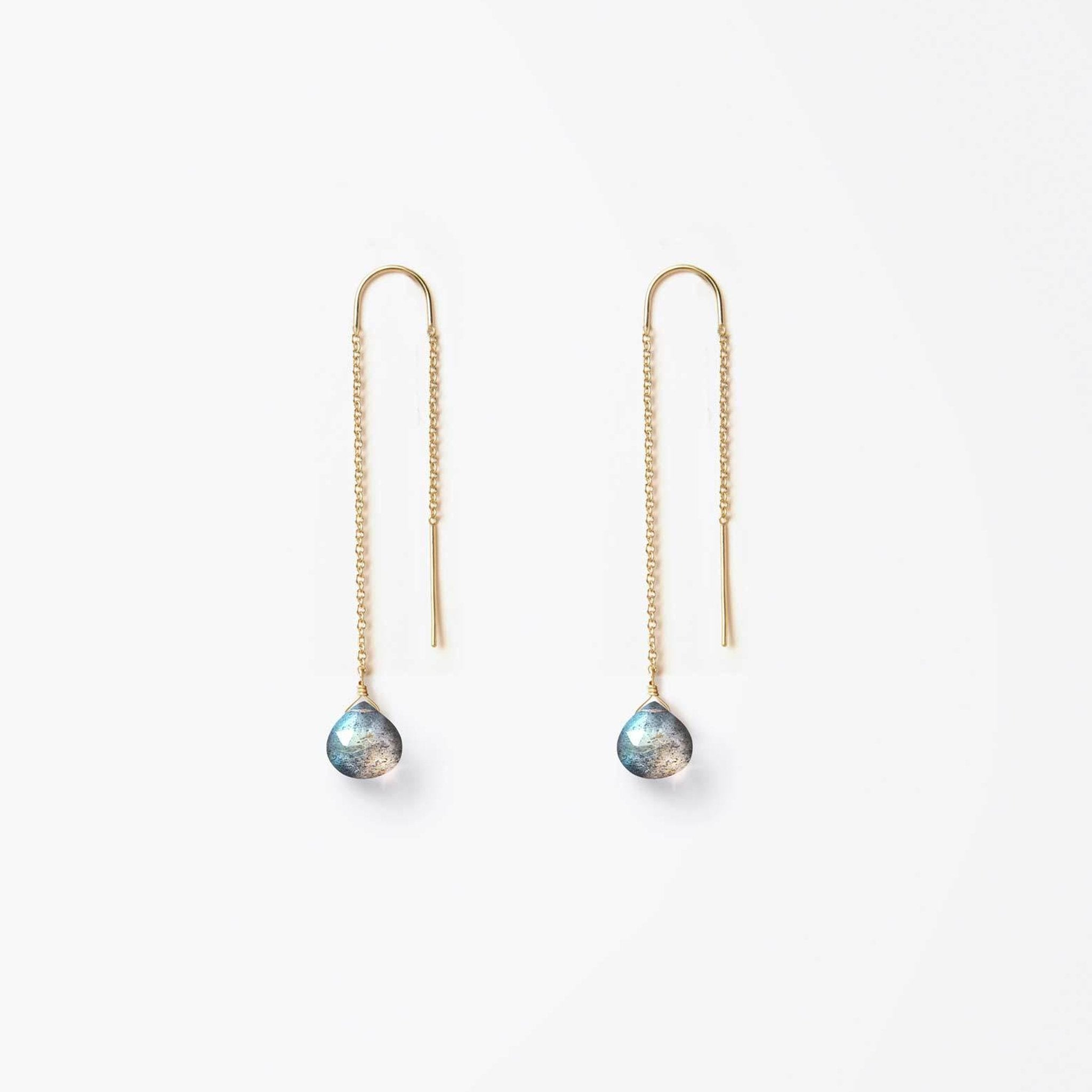 waterfall earring | iridescent labradorite