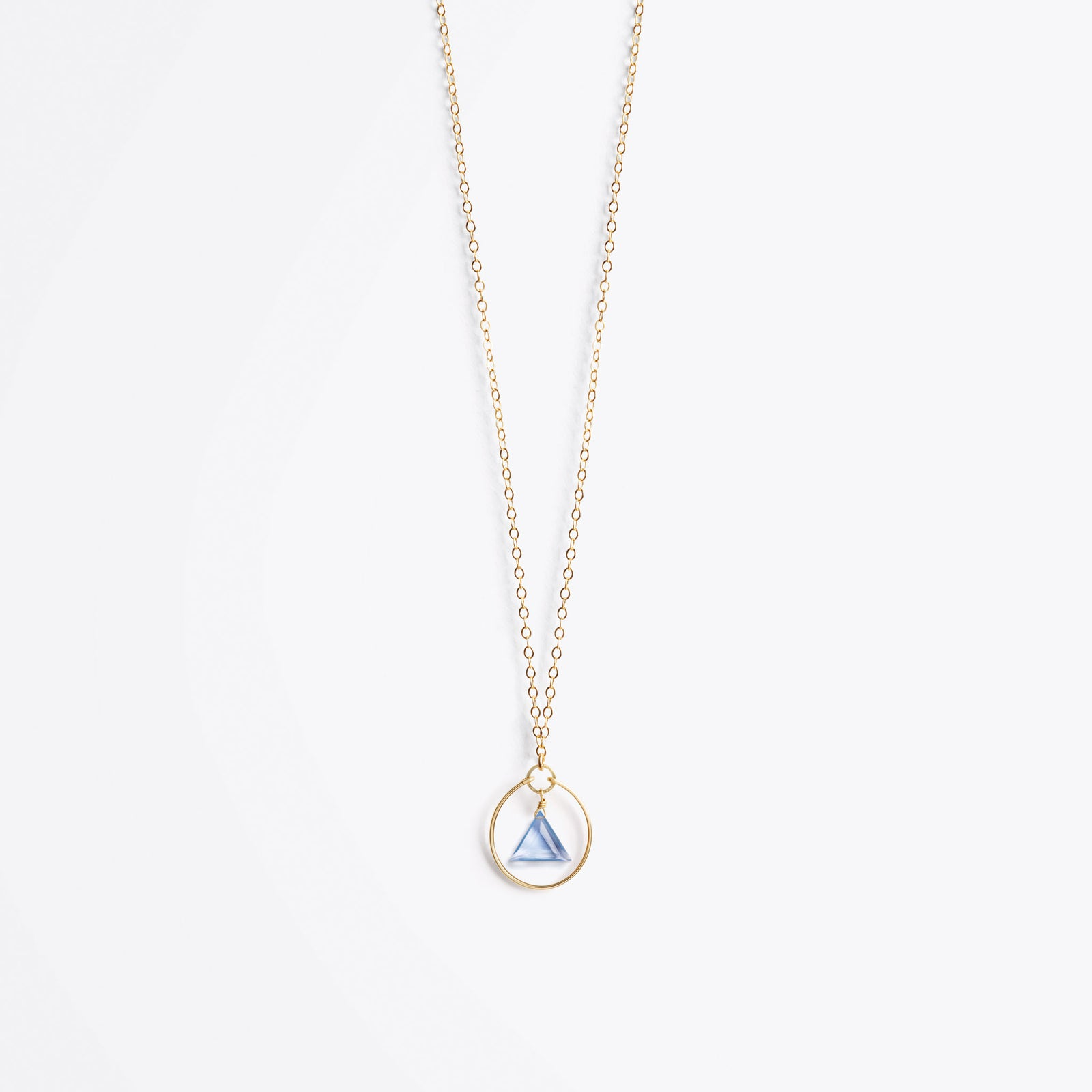 Wanderlust Life Ethically Handmade jewellery made in the UK. Minimalist gold and fine cord jewellery. stella prism gold chain necklace, california blue quartz
