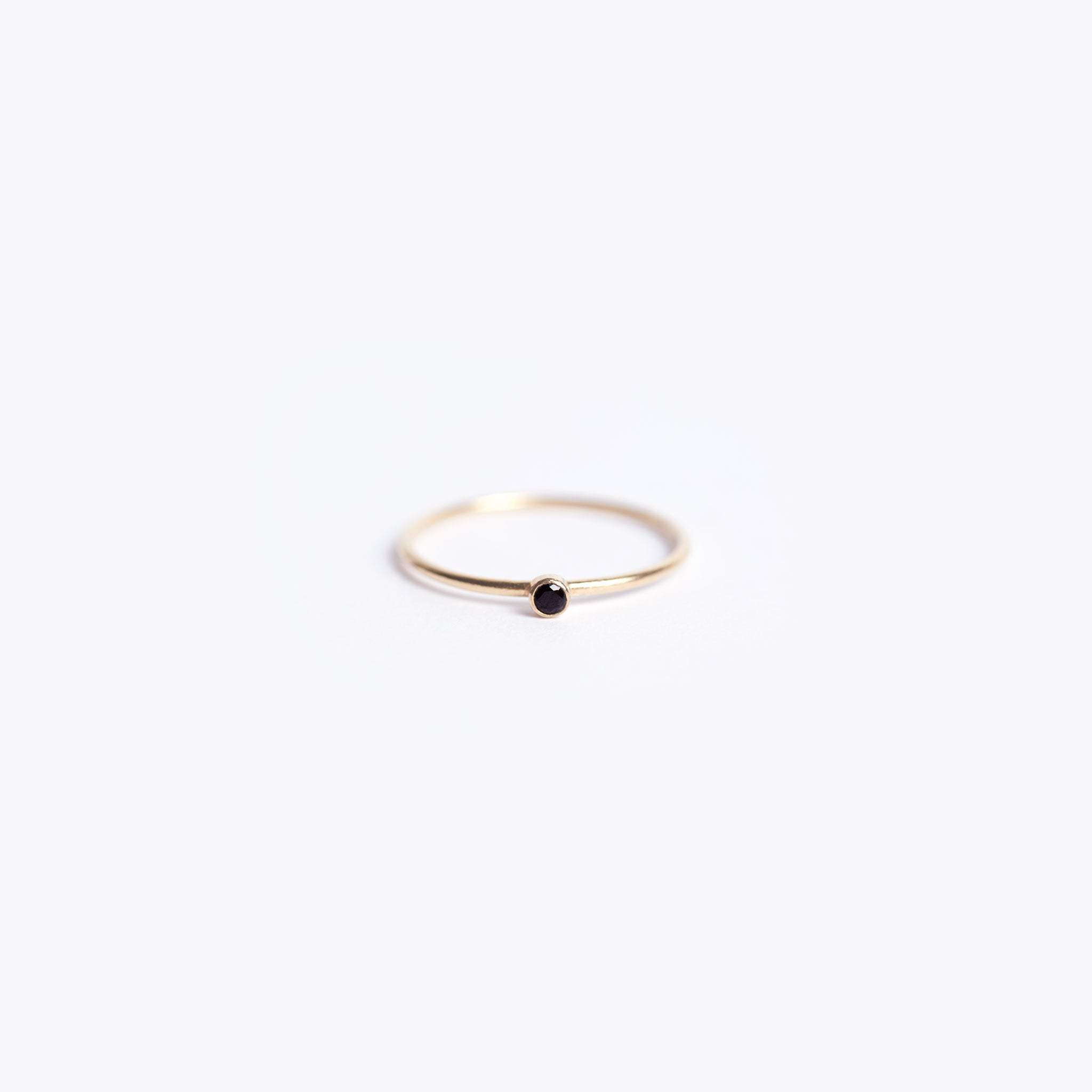 unity ring | black spinel