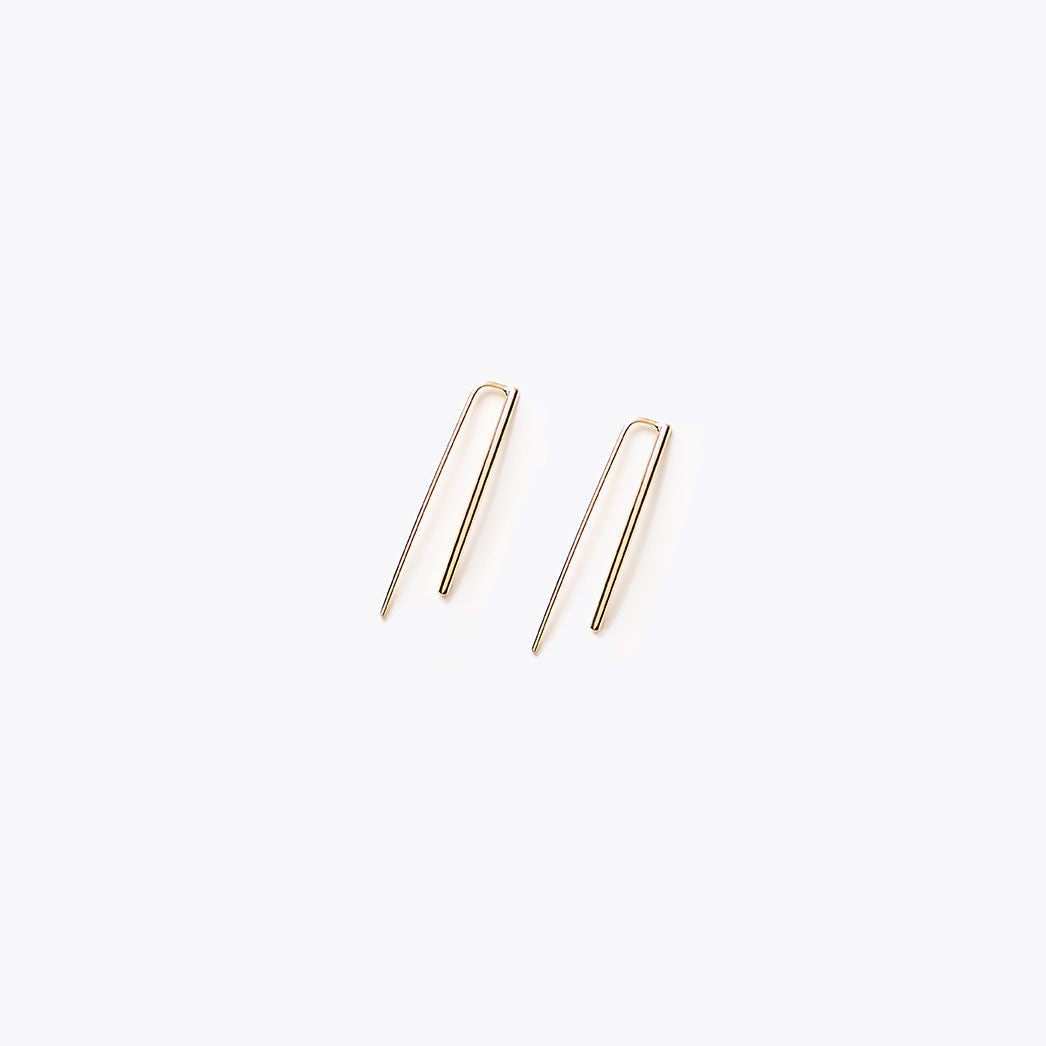 Wanderlust Life Ethically Handmade jewellery made in the UK. Minimalist gold and fine cord jewellery. solstice, ear climber