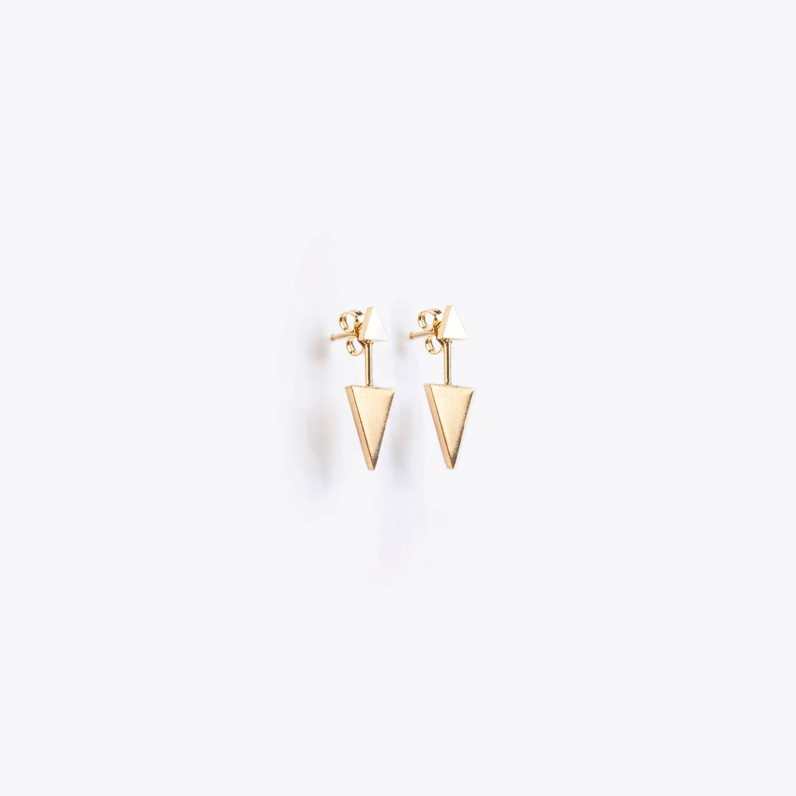 ear jacket | gold fortis triangle