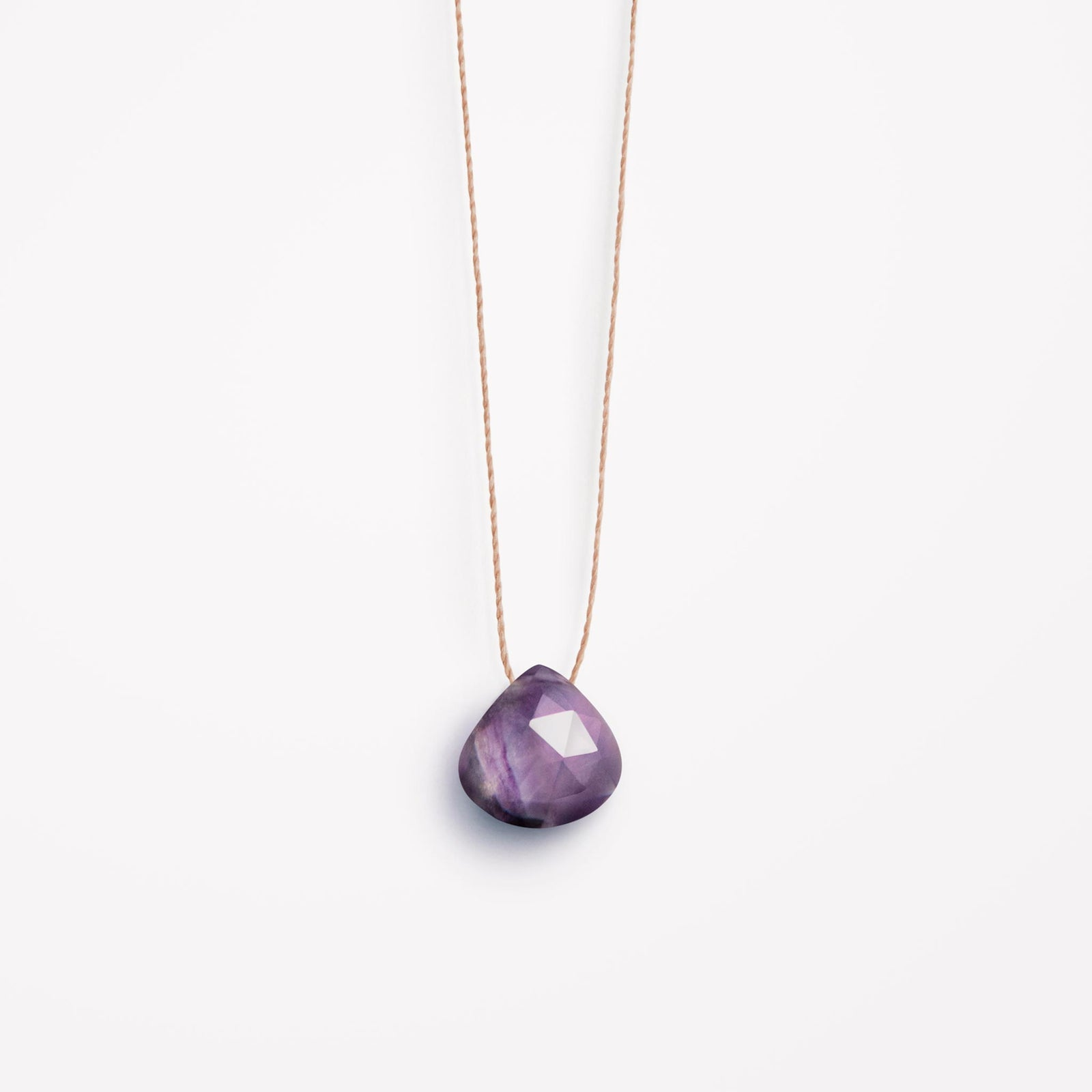 rainbow fluorite fine cord necklace