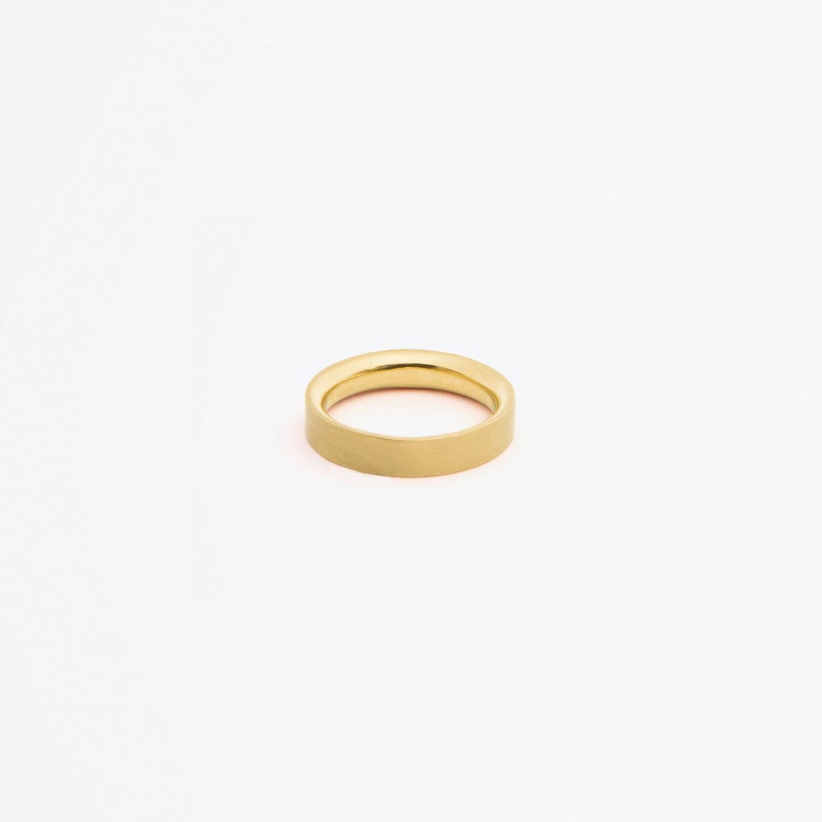 brushed gold band ring | nomad