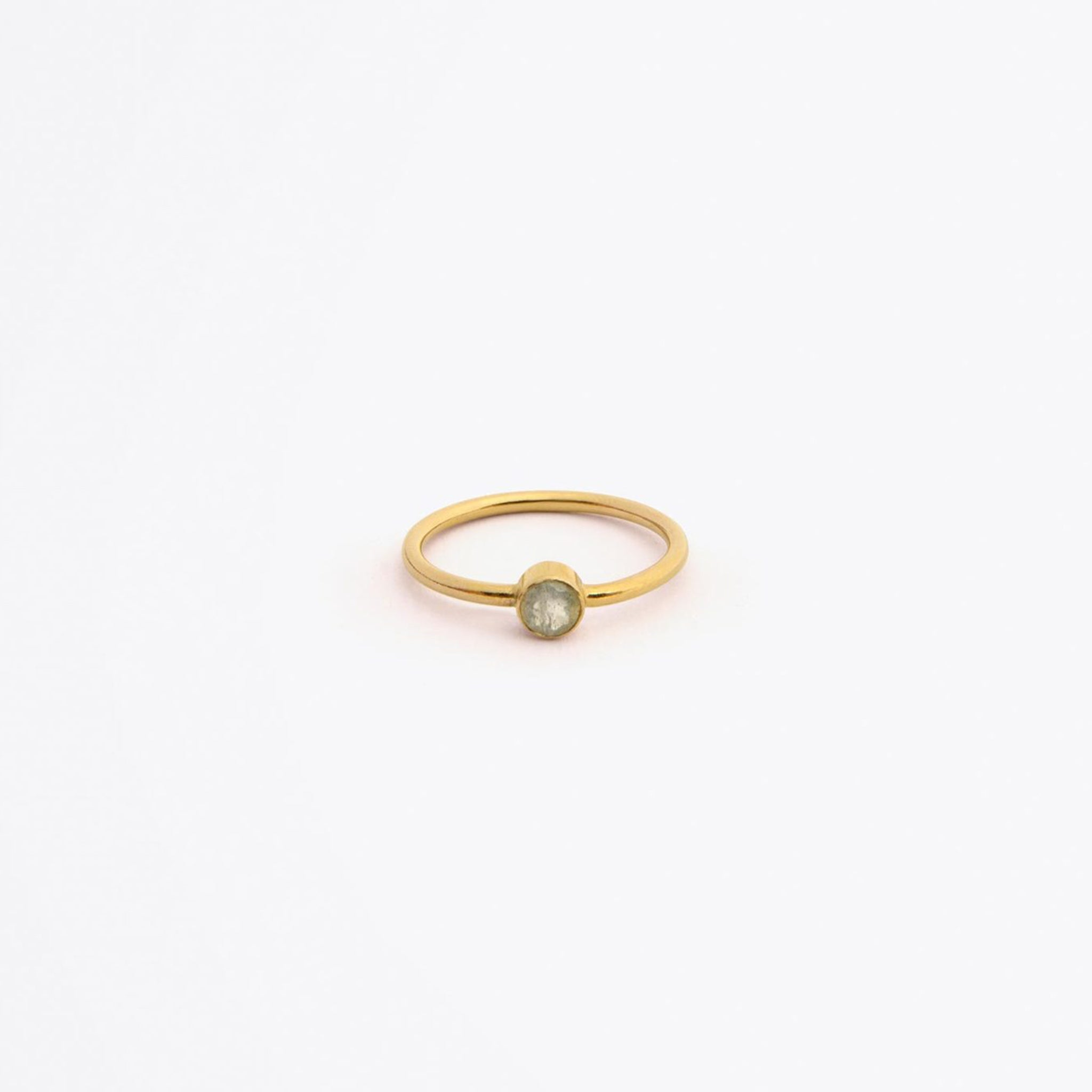 Wanderlust Life Ethically Handmade jewellery made in the UK. Minimalist gold and fine cord jewellery. nova ring, iridescent labradorite