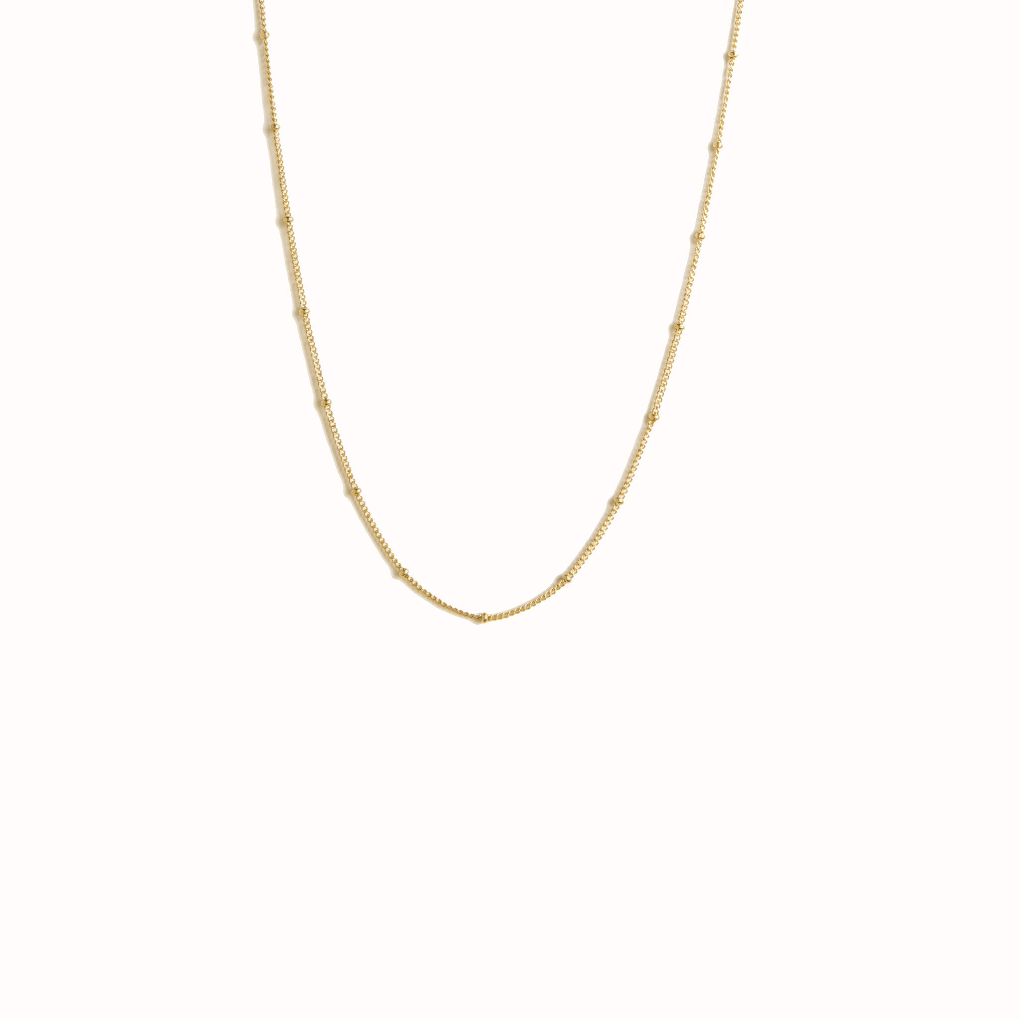 satellite layering gold chain necklace | choker