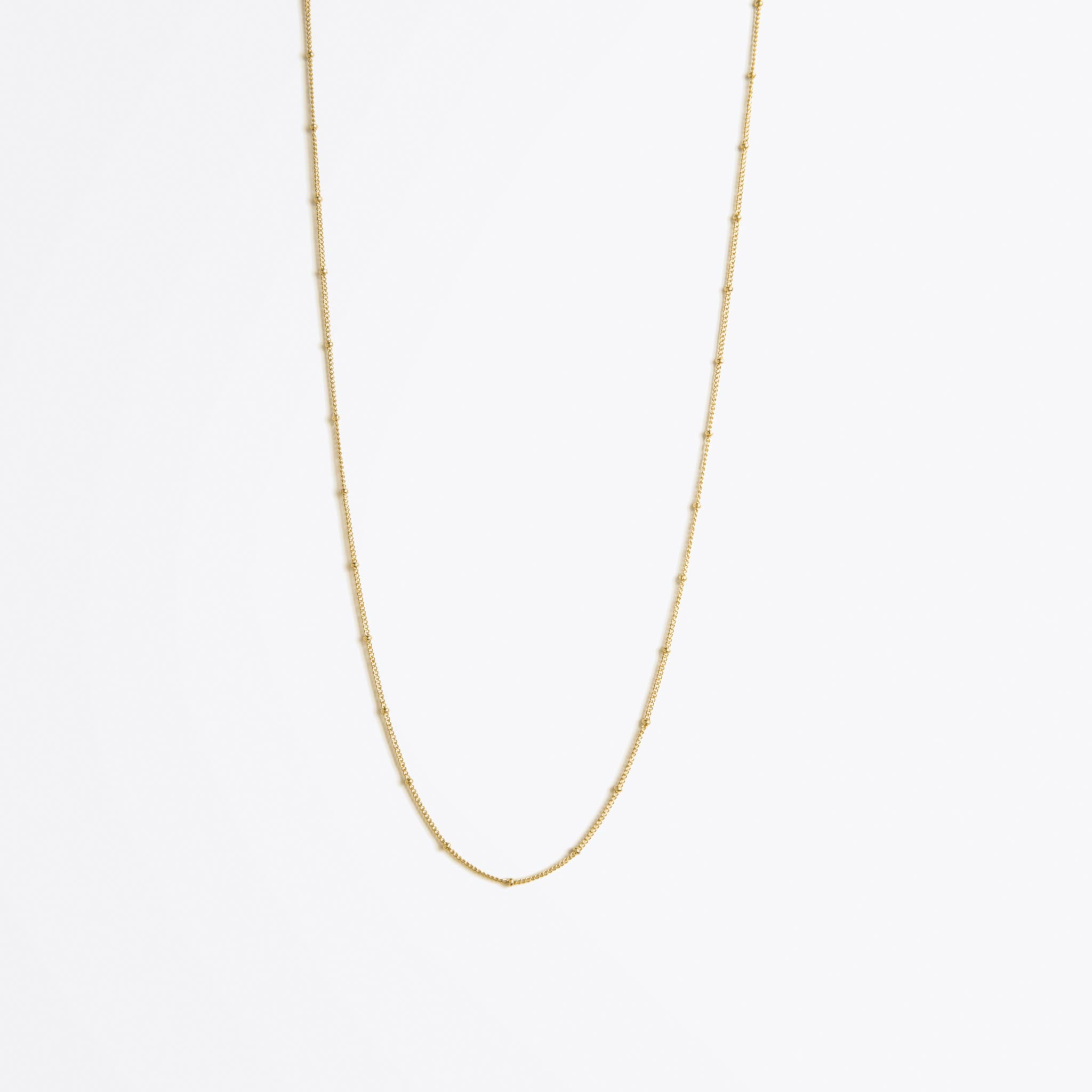 satellite layering gold chain necklace | long length