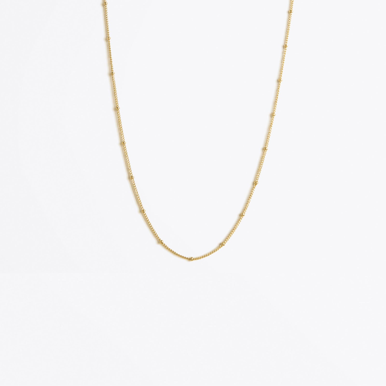 satellite layering gold chain necklace | regular length