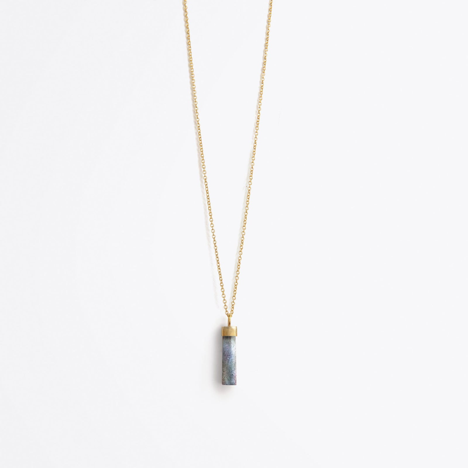 talisman fine gold chain necklace | iridescent labradorite