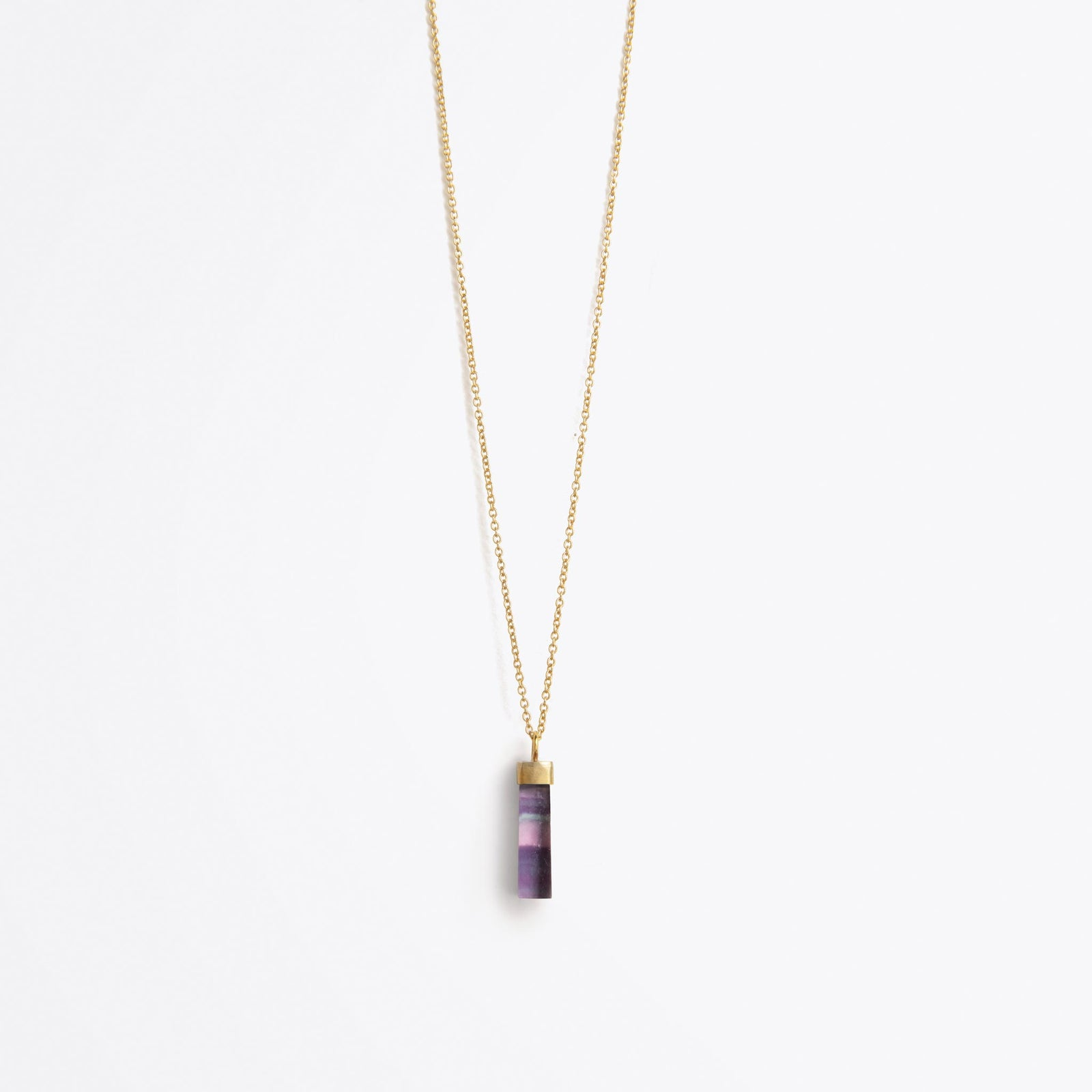 talisman fine gold chain necklace | rainbow fluorite