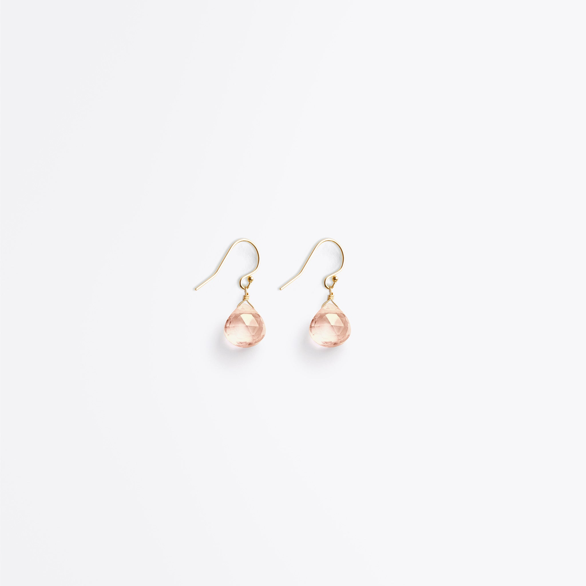 isla drop earring | champagne quartz
