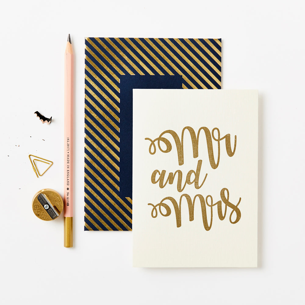 Mr & Mrs | Greetings card | Katie Leamon