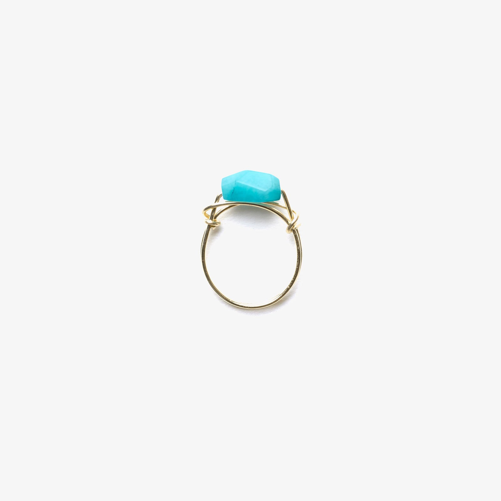 handsculpted ring | amazonite
