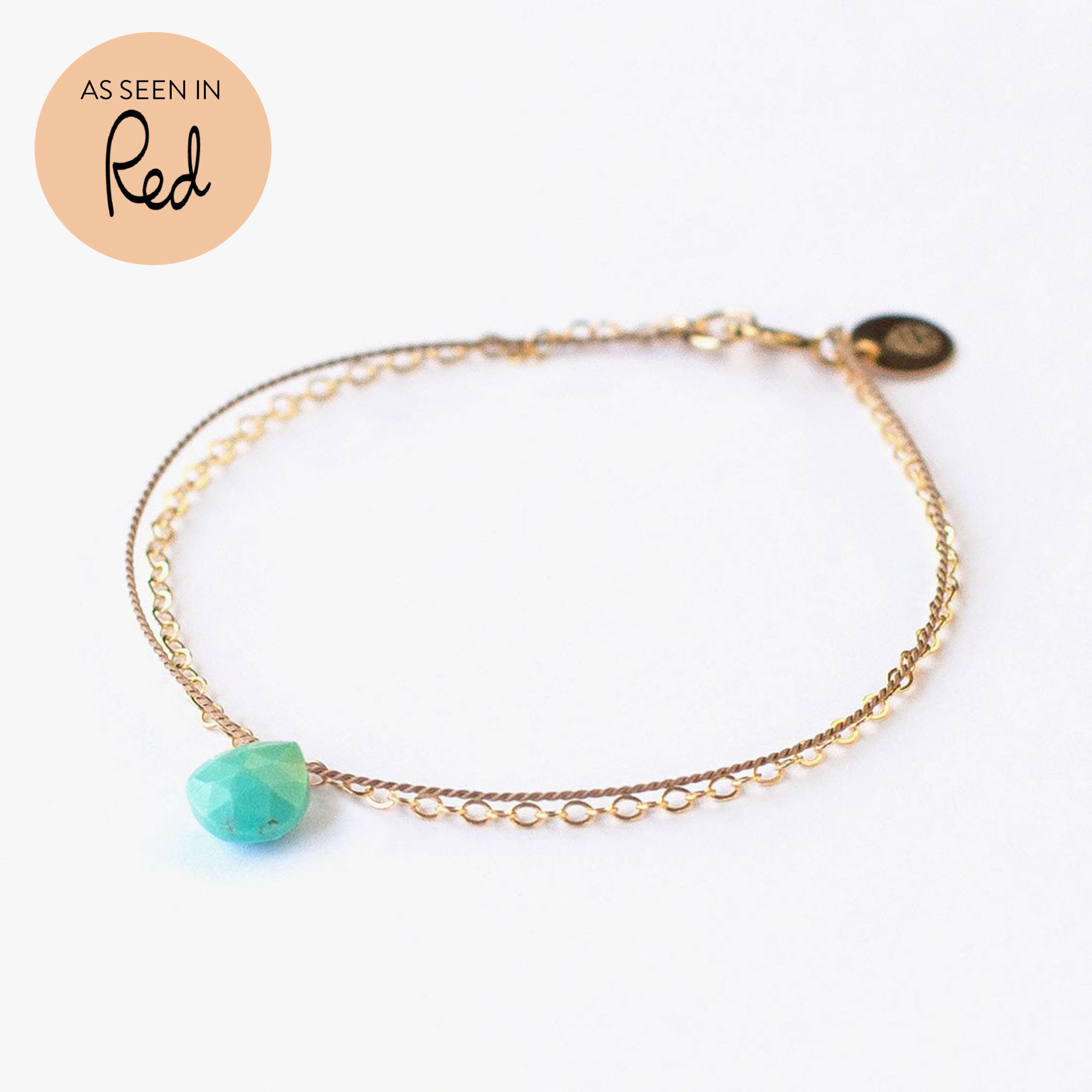 Wanderlust Life Ethically Handmade jewellery made in the UK. Minimalist gold and fine cord jewellery. throat chakra, vishuddha, gold & silk arizona turquoise bracelet. As seen in Red magazine.