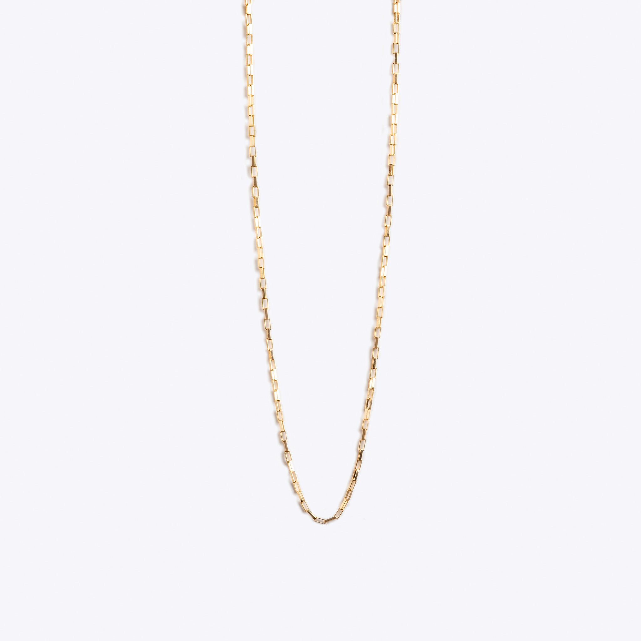 Wanderlust Life 14k gold fill chain layering necklace. Box chain necklace 16