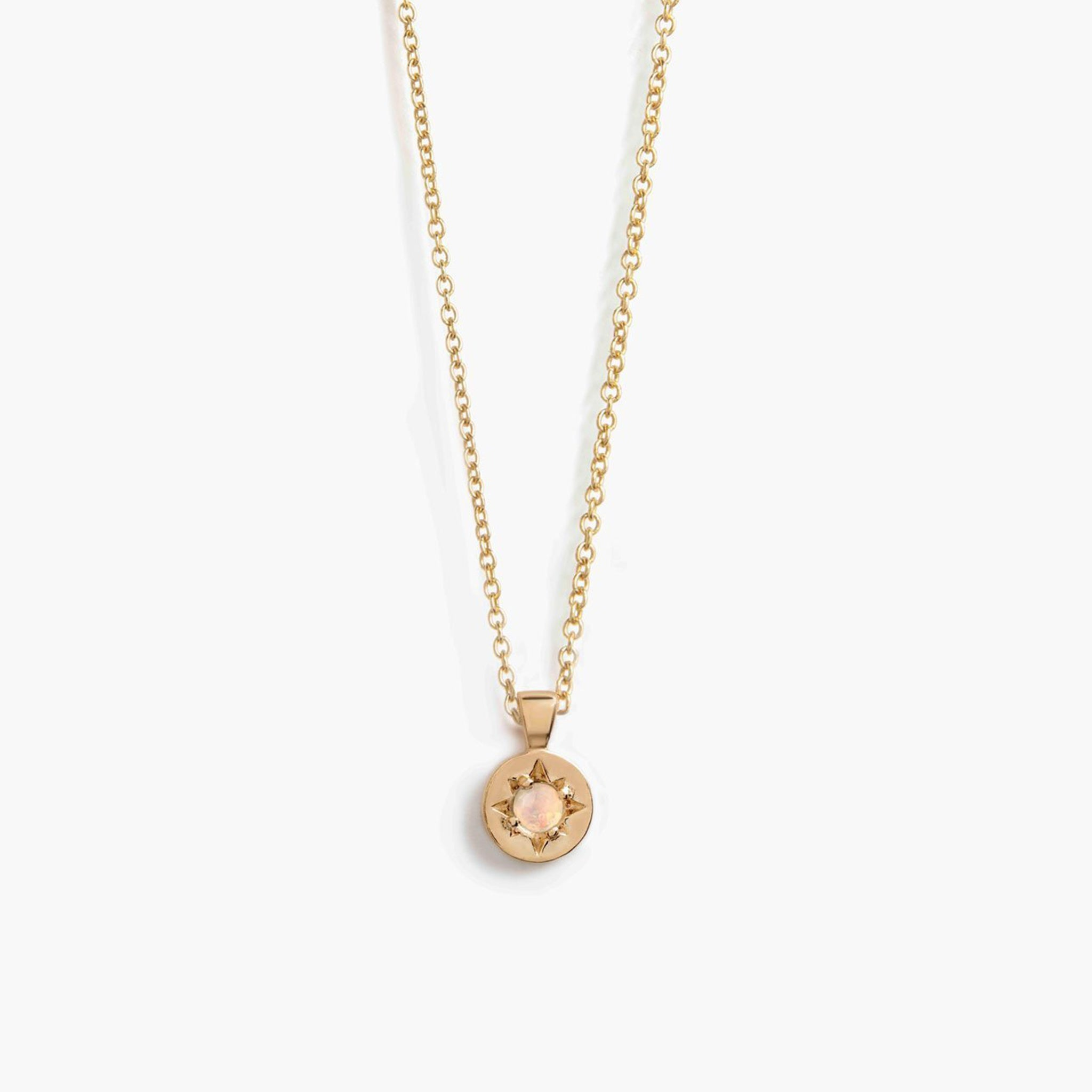 gold chain amulet necklace | opal
