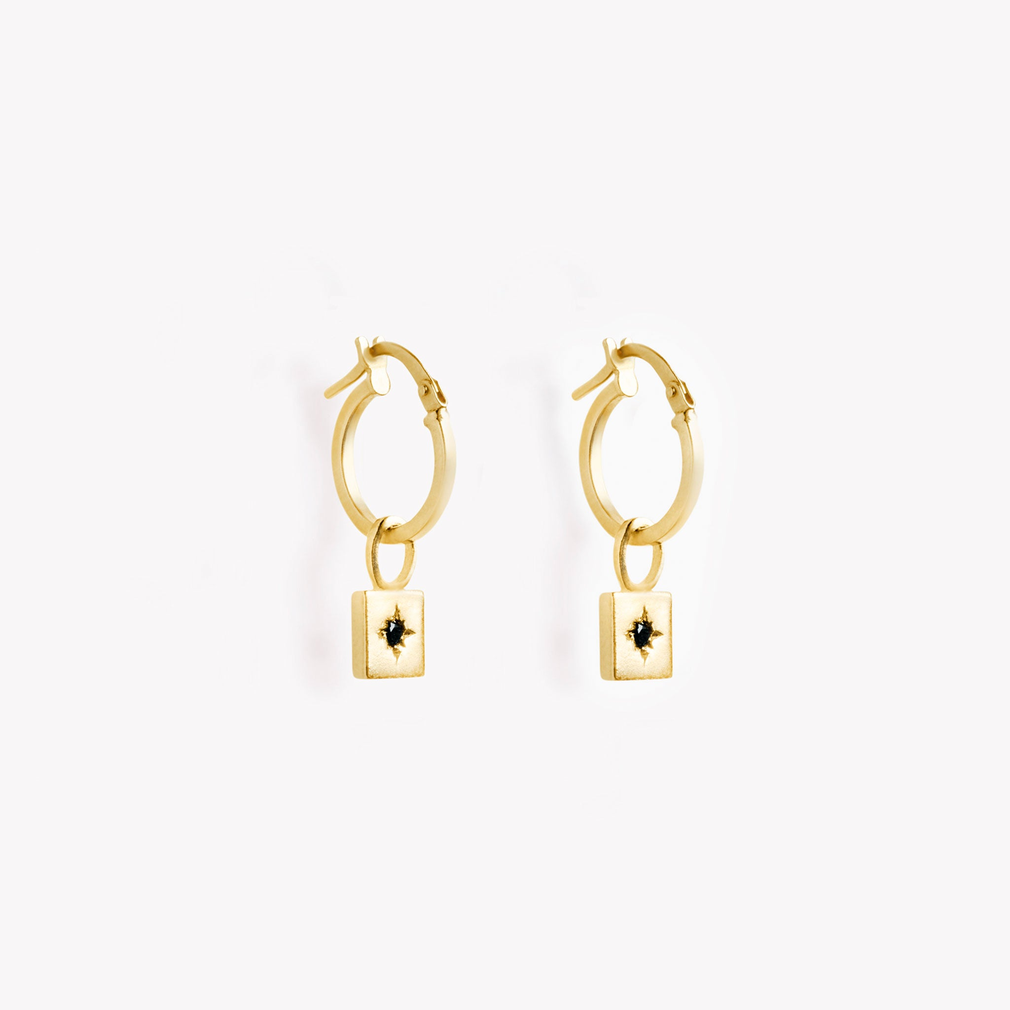 radix creole hoop earring | black diamond