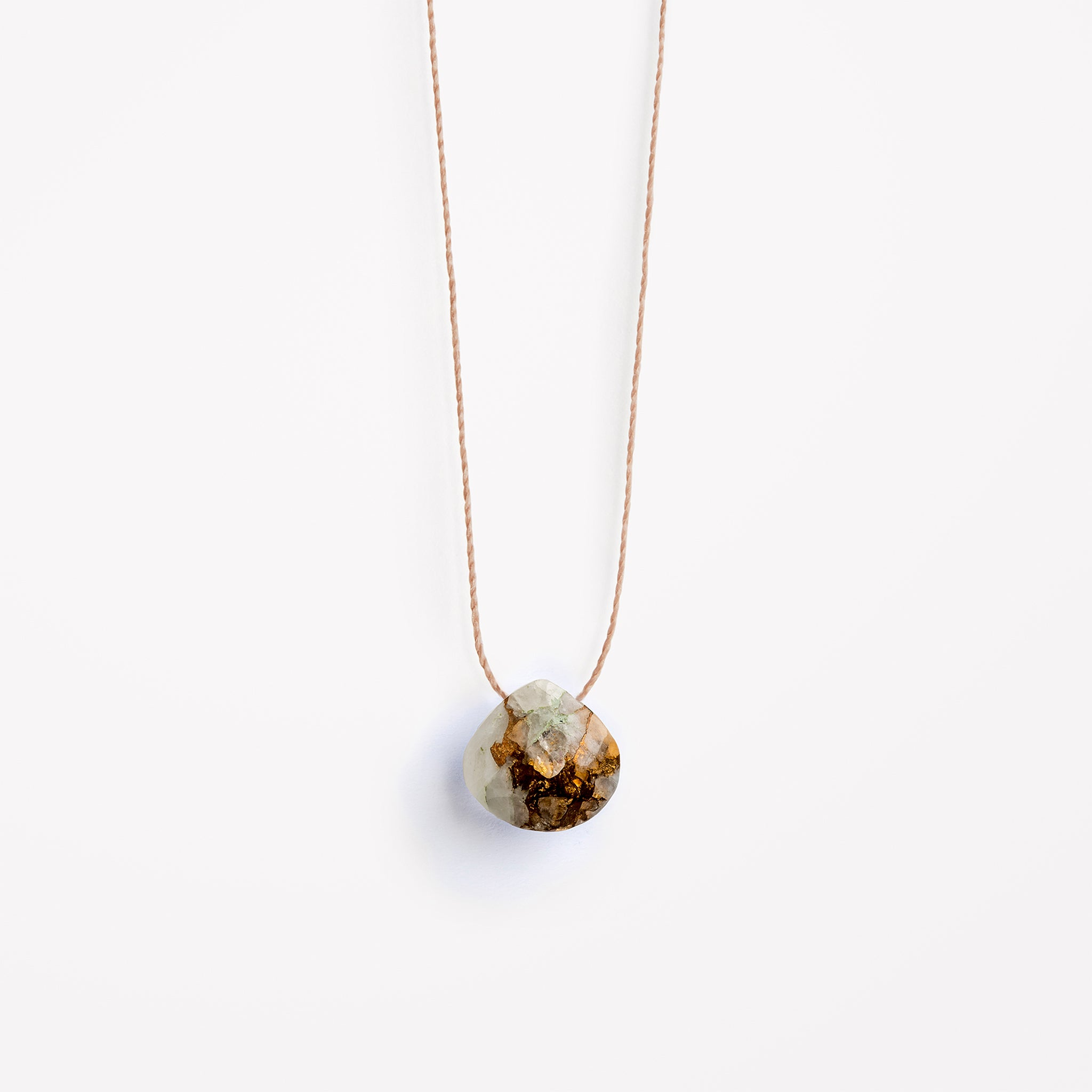 Wanderlust Life copper calcite fine cord necklace, available in 17