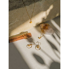 Wanderlust Life 14k gold chain citrine gemstone 17