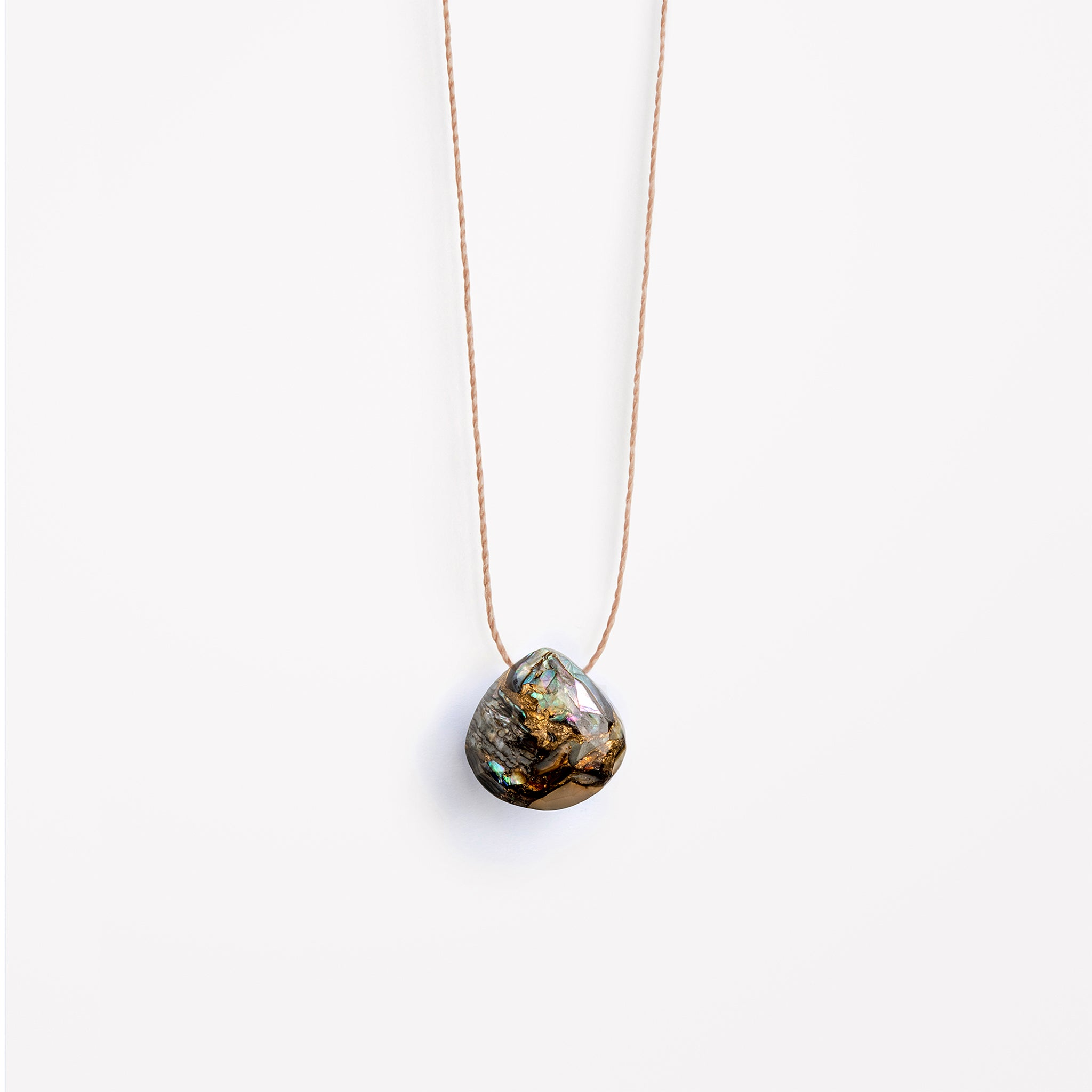 Wanderlust Life paua shell fine cord necklace. Available in 17