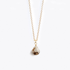 Fine Gold Chain Necklace | Calcite