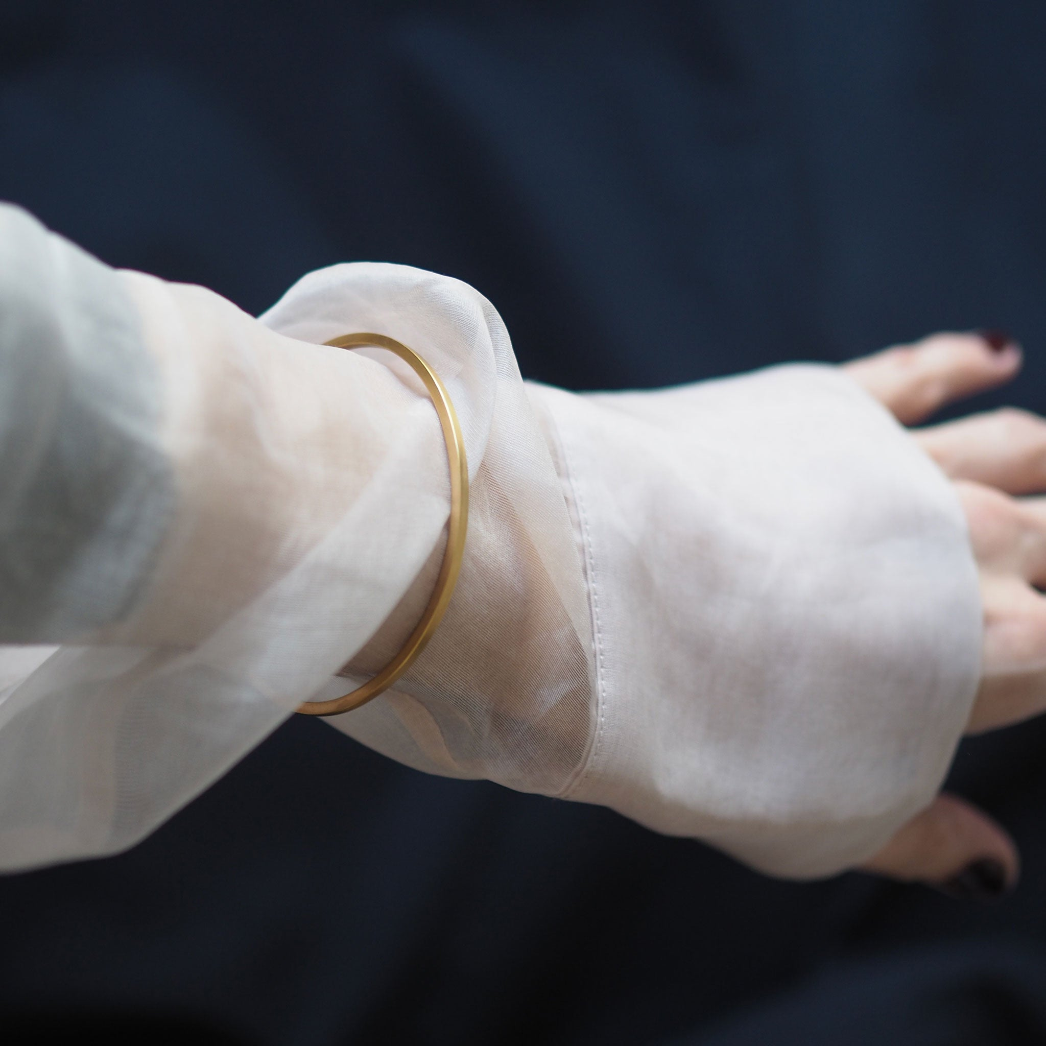 brushed gold cuff | nomad