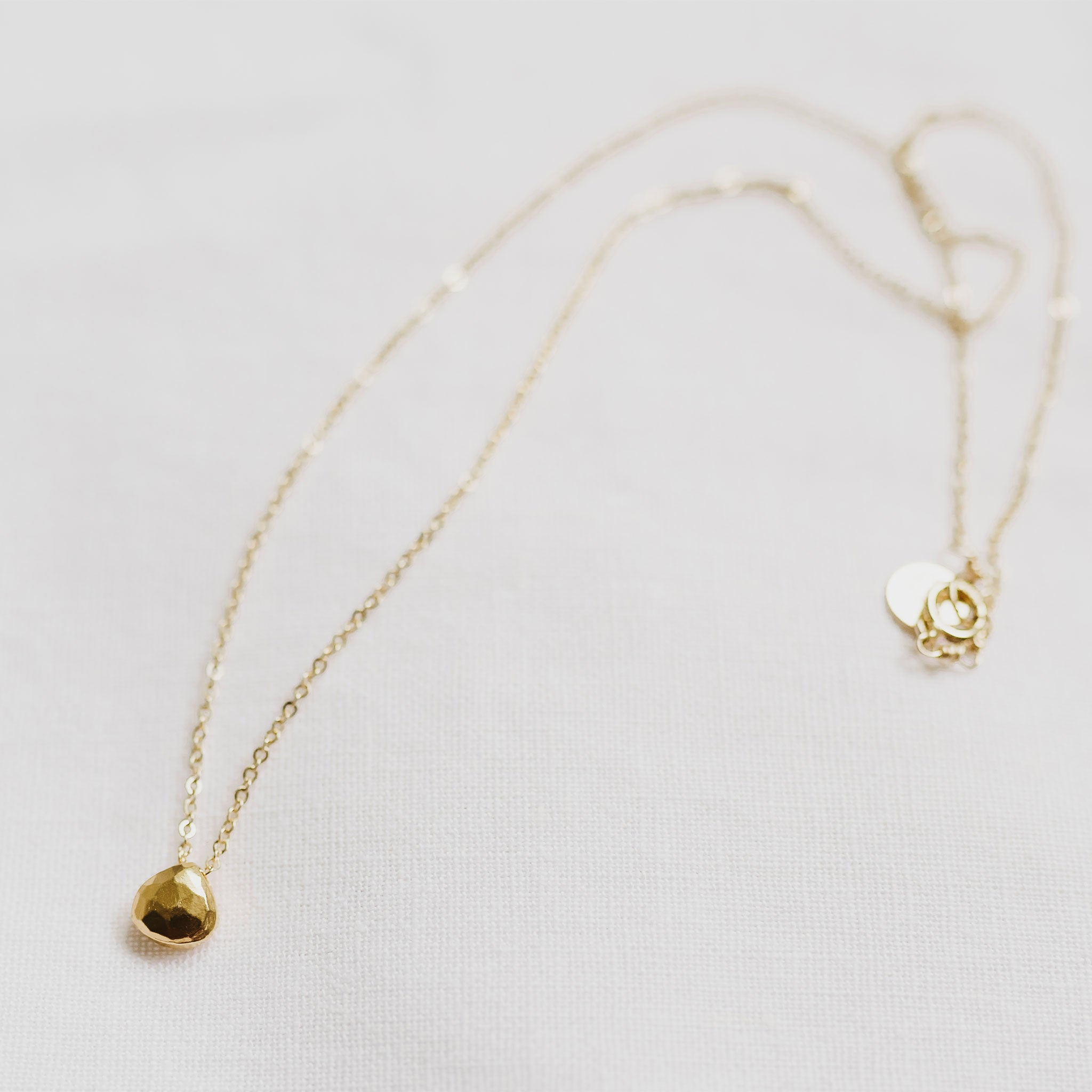Wanderlust Life jewellery gold chain necklace with 14k gold fill gemstone. Gold gemstone necklace with gold chain. Wanderlust Life gemstone jewellery handmade in the UK.