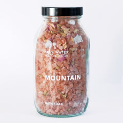 Wanderlust Life Holy Water mountain bath soak. Ethically, organic began skincare products handmade in the UK.