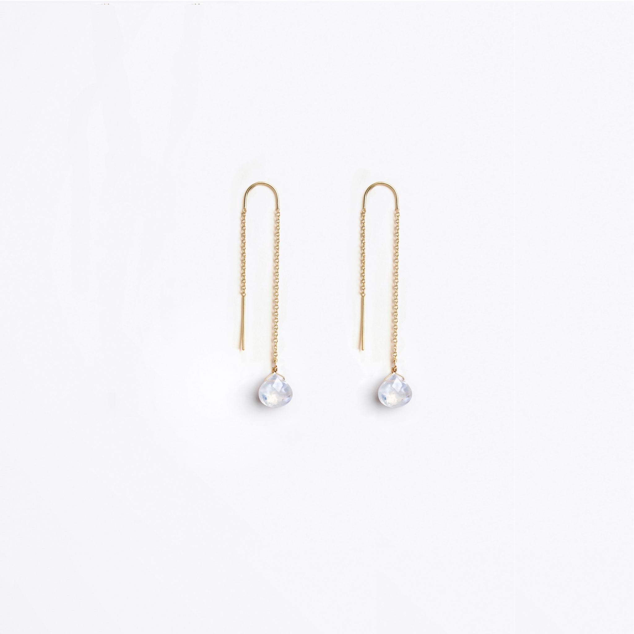Wanderlust Life Ethically Handmade jewellery made in the UK. Minimalist gold and fine cord jewellery. the wedding collection, waterfall earring, rainbow moonstone