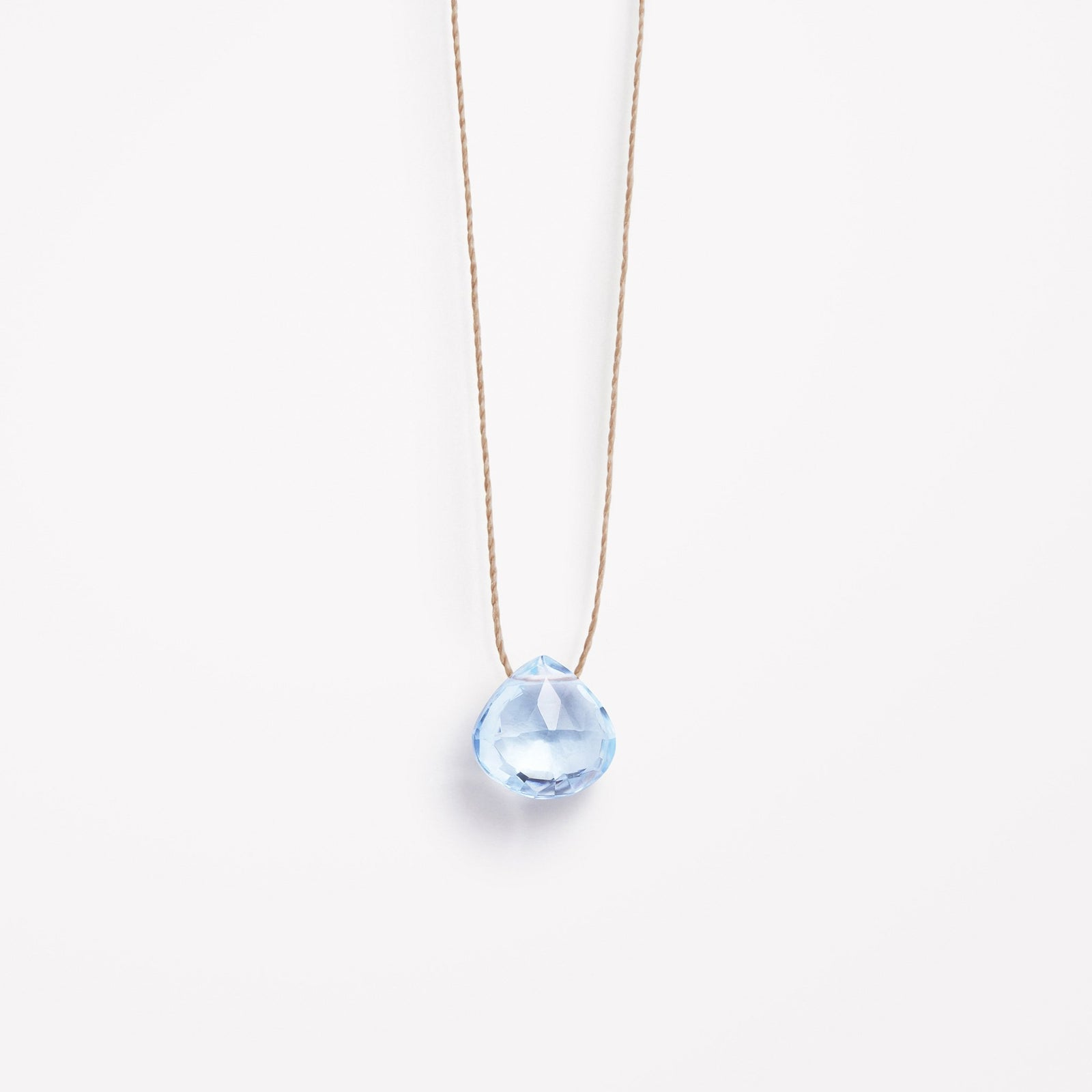 blue topaz fine cord necklace