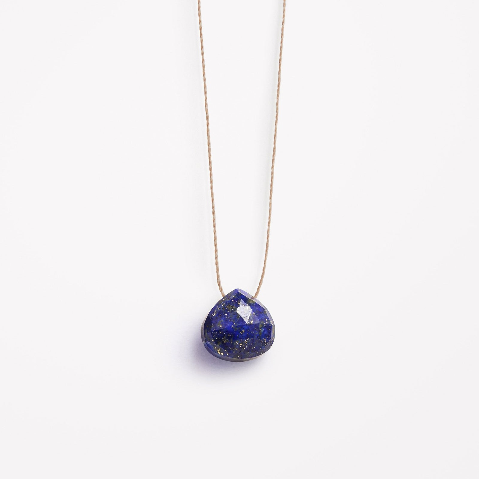 third eye | lapis lazuli fine cord necklace