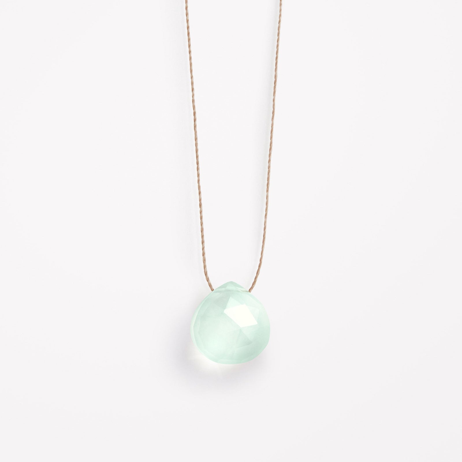 sea glass chalcedony necklace